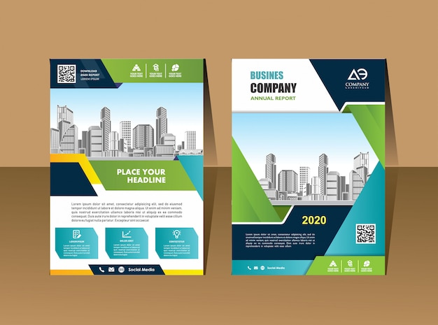 Business brochure flyers  template company profile magazine poster annual report book & booklet