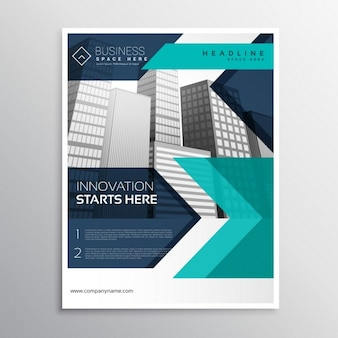 Дизайн бизнес шаблон брошюры в синий цвет