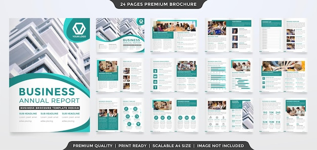 Business brochure layout template design with creative and minimalist style