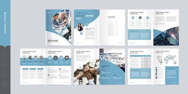 Business brochure layout template design