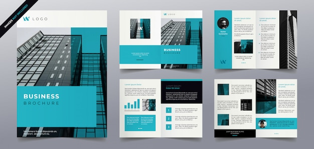Business brochure pages  template