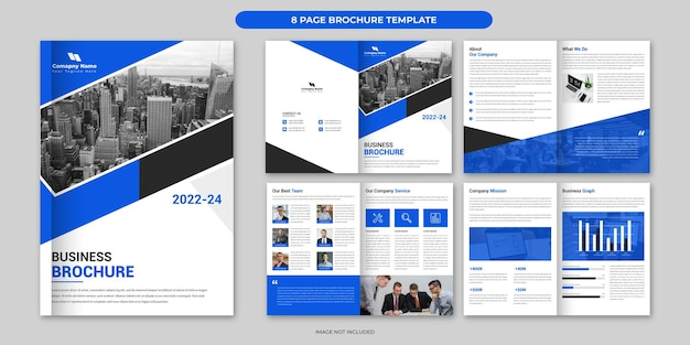 Business brochure template design 8 page corporate brochure layout minimal business brochure