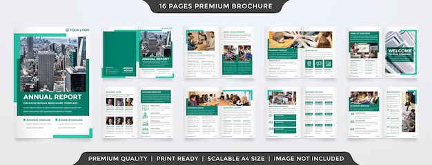 Business brochure template design with minimalist and clean concept use for business proposal