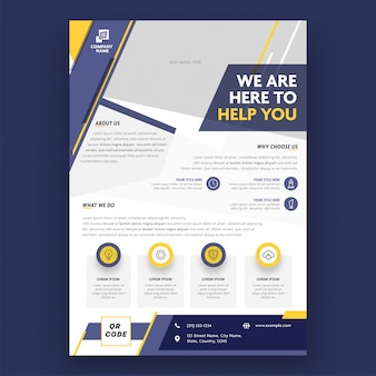Business brochure, template or flyer design for advertising concept.