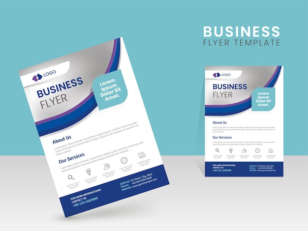 ビジネスパンフレットテンプレートチラシデザイン
