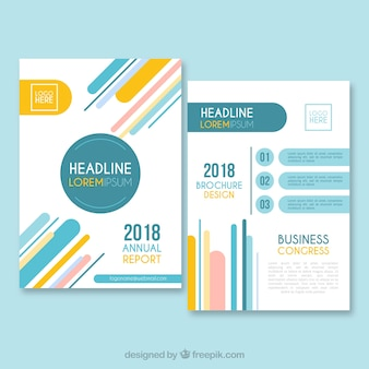 Business brochure template in size a5