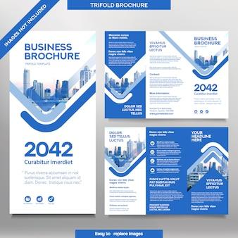 Шаблон бизнес-брошюры в три раза.