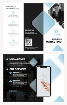 Modello di brochure aziendale per una società di marketing