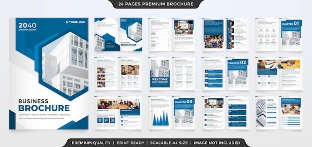 Business brochure template premium style