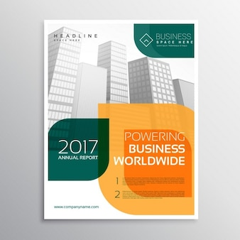 Business brochure template with abstract shapes of colors