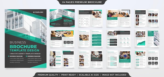 Business brochure template with abstract style and modern layout