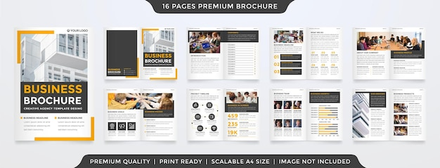 Business brochure template with clean style and modern layout use for business profile and presentation