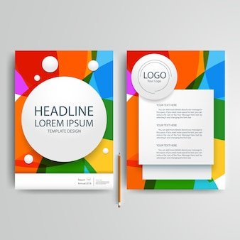Business brochure template with colorful and circle