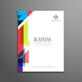 다채로운 기하학적 형태와 비즈니스 브로슈어 서식 파일