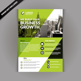 Business brochure template with green color