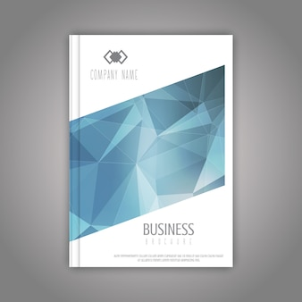 Business brochure template with a low poly design