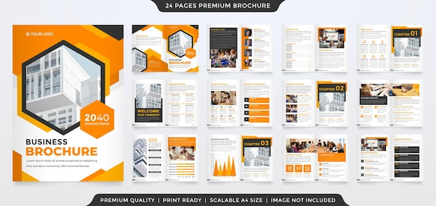 Business brochure template with minimalist concept and premium style