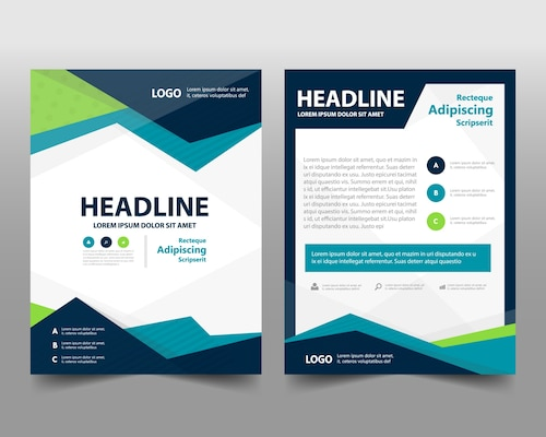 Business brochure template with space for text