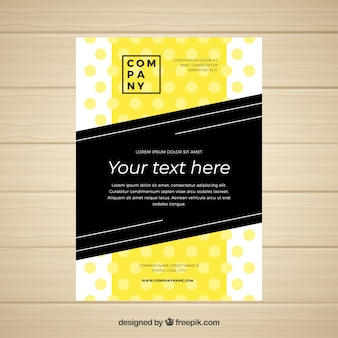 Business brochure with a5 size in flat style