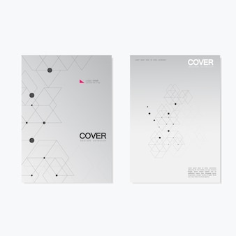 Business brochure  with abstract hexagon cover set