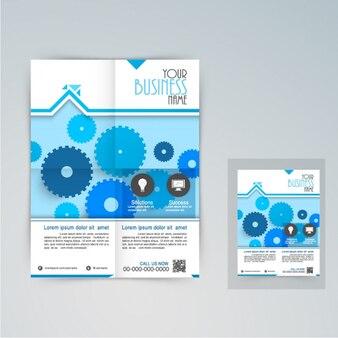 Бизнес брошюры с голубыми передачами