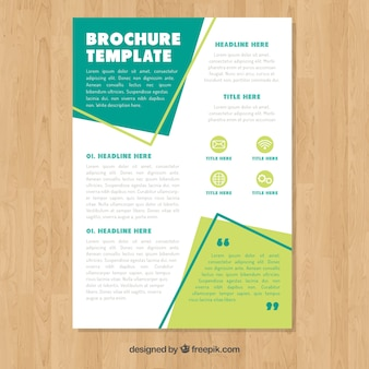 Business brochure with flat style