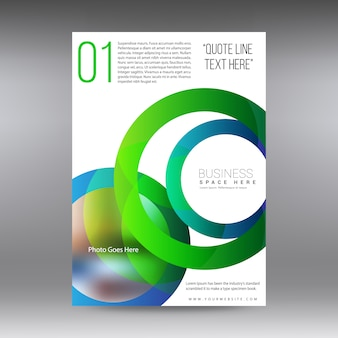 Business brochure with green circles