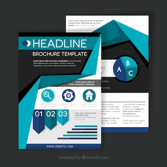 Business brochure with infographic elements