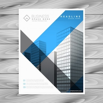 Business brochure with modern stripes