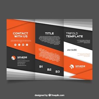 オレンジ形状のビジネスパンフレット
