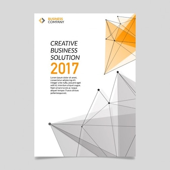 Business brochure with polygonal shapes