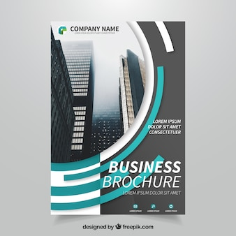 Business brochure with semicircular forms