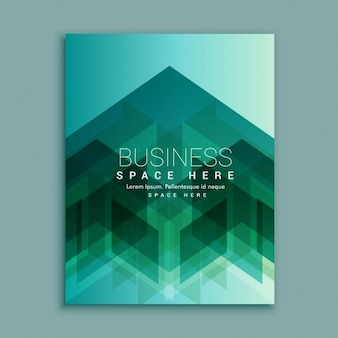 Business brochure with transparent polygons