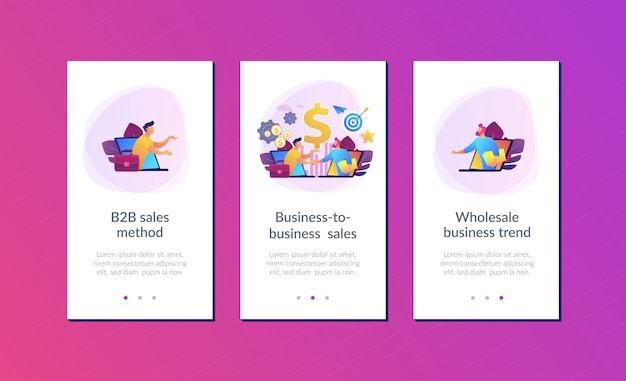 Business-to-business sales app interface template