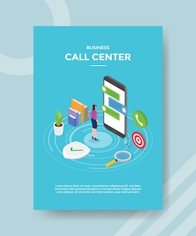 Business call center flyer template