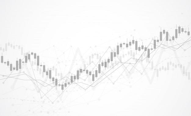 주식 시장의 비즈니스 캔들 스틱 그래프 차트