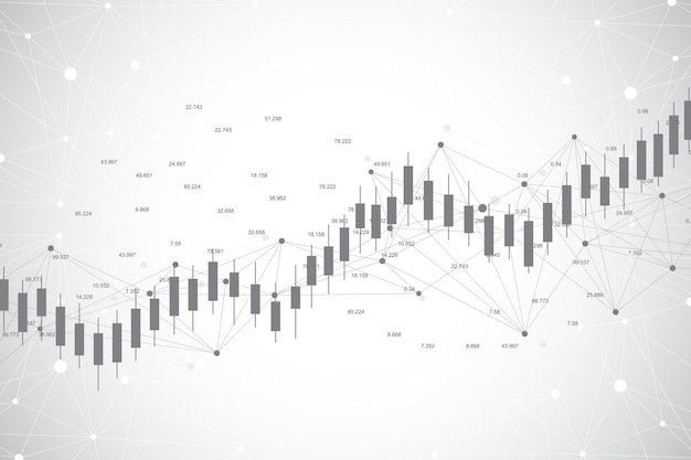 Business candle stick graph chart of stock market investment trading illustration