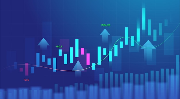 Business candle stick graph chart of stock market investment trading