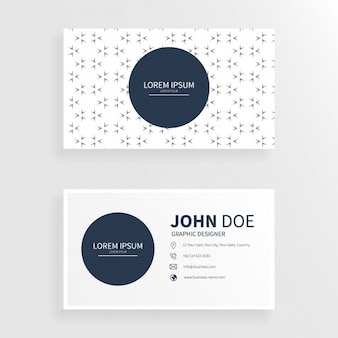 Business card in abstract arrow