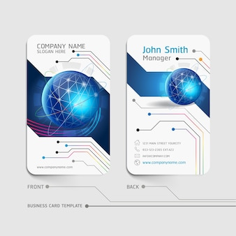 Business card abstract background  illustration.