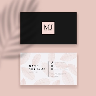 Business card and abstract background