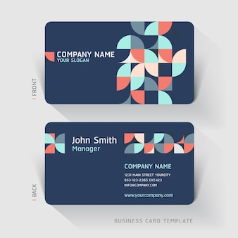 Business card abstract background