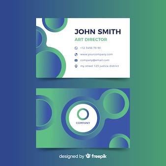 Business card abstract duotone gradient