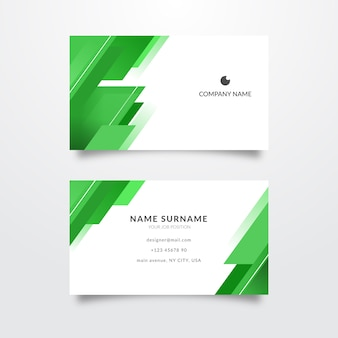 Business card abstract monochromatic template Free Vector