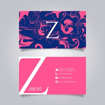 Business card abstract paint