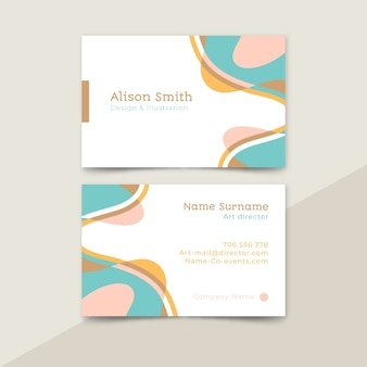 Business card abstract painted set template