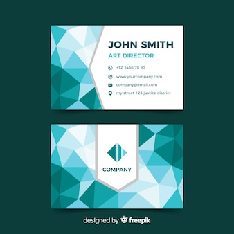 Business card abstract polygonal