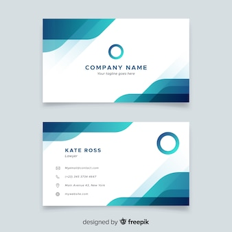 Business card in abstract style