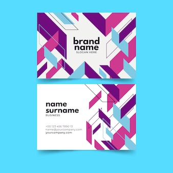 Business card abstract template pack