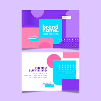 Business card abstract template  set